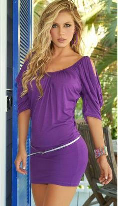 Sexy Dresses For Women: Sexy Party Dresses, Sexy Club Dresses Purple Dress Outfits, Purple Mini Dresses, Little Dresses, Sexy Outfits, Outfits 2016, Winter Outfits, Tight Dresses, Club Dresses, Sexy Dresses