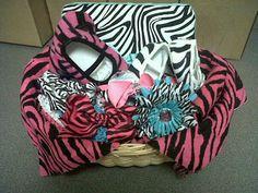Baby Girl Zebra Themed Gift Basket $40 #etsy #zebra #baby