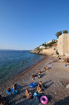 Mikro Kamini beach, Hydra, Greece