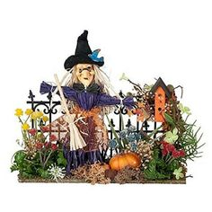 Witch's Garden Gate www.teeliesfairygarden.com Only the bravest fairies will enter your fairy garden if you make this witch's garden gate your entrance. #fairygate
