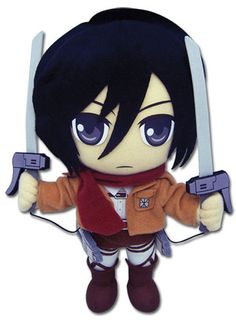 BRAND NEW Great Eastern GE-52562 Attack On Titan Stuffed Plush - Mikasa Ackerman #GreatEastern