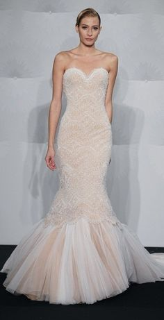 Bridal Gowns Mark Zunino Mermaid Wedding Dress With Sweetheart Neckline And Dropped Waist Waistline