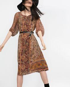 LONG PRINTED DRESS - Dresses - Woman - COLLECTION AW15 | ZARA Serbia