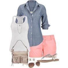 Ideas de outfits: looks frescos para el veranito *El color rosa (en todas sus tonalidades) - es uno de los principales esta temporada. *Añadiendo color rosa a tus outfits consigues una imagen fresca... #outfits #look #moda #style