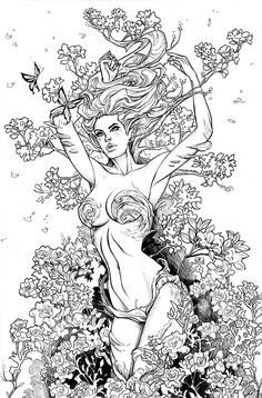 Fantasy Coloring pages colouring adult detailed advanced printable Kleuren voor volwassenen coloriage pour adulte anti-stress