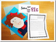 Persuasive Letter Writing for Charlotte's Web...Save the Pig!...Using the OREO writing process...(O = Opinion, R = Reason, E = Examples, O = Opinion) Students write a letter to Mr. Arable to convince him to save the pig!