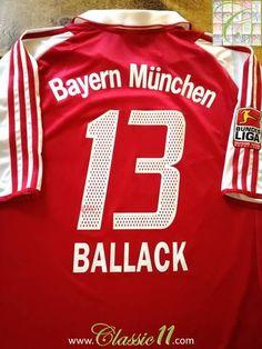 2003 04 Bayern Munich Home Bundesliga Football Shirt Ballack  13 (XL) feb715b6966e0