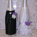 botellas de vino decoradas para boda – decoraciones para bodas