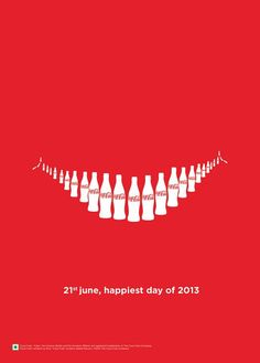 *gestalt principle - smile using coke bottles