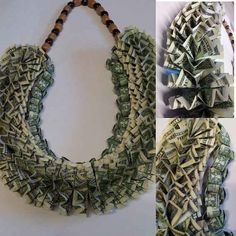 A lei made of money.
