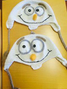 Mine hjemmelaget Olaf luer😂  #olaf #crochet
