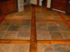 Slate Wood floors - this would be perfect in our entry way for a transition from slate floors to wood steps!
