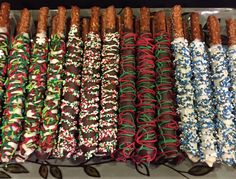 Chocolate dipped pretzels for your holiday table! Chocolate Dipped Pretzels, Pretzel Dip, Holiday Tables, Dips, Sauces, Chocolate Covered Pretzels, Dip