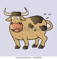 Bull cartoon.