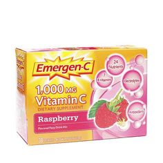 Raspberry Emergen-C Vitamin C Fizzy Drink Mix www.theteelieblog.com It's sweet; it's nutritious; it's berry-licious. In other words, it really puts the razz in raspberry. With each sip, you can feel the 24 nutrients flow through your body in a wave of Emergen-C® rejuvenation. If feeling good is your thing, you found the right box. #thrivemarket