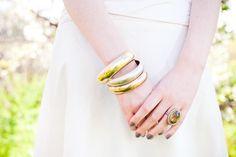 Gold bangles | South