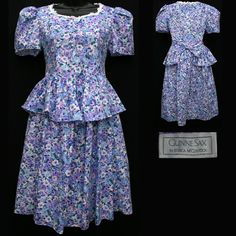 1980's daytime dress: These dresses were worn during the day by women. They were more casual than evening dresses and were know worn throughout the day. Changing for dinner was no longer a must-do.
