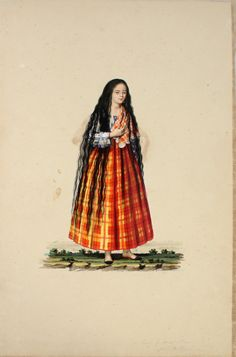 """pinoy-culture: """" Justiniano Asunción - Tipos del Pais Century watercolor on paper 14 x 9 each cm x 23 cm) """"These costumed figures almost look like the works of Damian. Philippines Fashion, Philippines Culture, Manila, Filipiniana Dress, Filipino Fashion, Philippine Women, Filipino Culture, Historical Costume, Pinoy"""