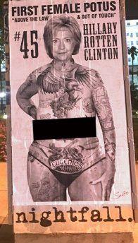 Hillary Clinton falls victim to Sabo the Hollywood street artist ...