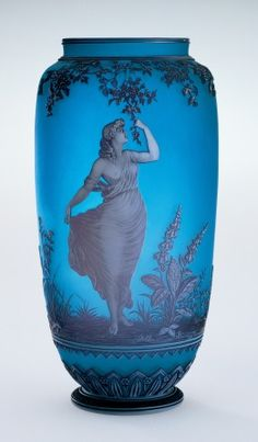 http://www.cincinnatiartmuseum.org/ VASE: Thomas Webb & Sons (English, estab. 1837) Date:1874-1887 Place:England/United Kingdom Classification:Glass Medium:cameo glass Measurements:H. 8 1/2 in. (21.6 cm), D. 4 in. (10.2 cm).