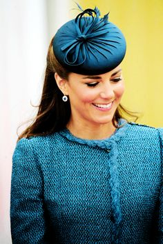 Duchess of Cambridge wears a hat by London-based milliner Rachel Trevor Morgan (June 2012).