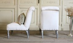 Eloquence, Inc.- very pretty lines to this vintage slipper chair
