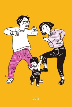 Post anything (from anywhere! Family Illustration, Japanese Illustration, People Illustration, Line Illustration, Character Illustration, Digital Illustration, Ligne Claire, Dibujos Cute, Character Drawing