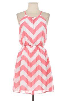 Chevron Dress Cute Zig Zag Pattern