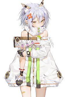 Kai Fine Art is an art website, shows painting and illustration works all over the world. Fan Art Anime, Anime Artwork, Anime Art Girl, Manga Girl, Loli Kawaii, Kawaii Anime Girl, Anime Neko, Manga Anime, Neko Maid
