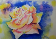 Yellow rose of.....Done very wet in wet.