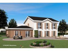 Premium 165/71 - #Einfamilienhaus mit #Einliegerwohnung (ELW) / #Zweifamilienhaus von Bau Braune Inh. Sven Lehner | HausXXL #Mehrgenerationenhaus #Landhausstil #Satteldach