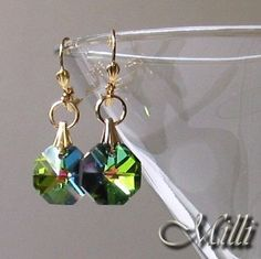 Earrings With Swarovski Vitrail Medium Crystals by by MaisonMilli, $23.00