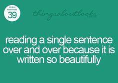 That perfect sentence...