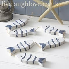 Rustic Wooden Fish String