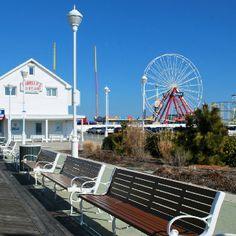 The Boardwalk, Ocean City,Maryland. Places To Travel, Places To Go, Delmarva Peninsula, Severna Park, Ferris Wheels, British Seaside, Ocean City Md, City Vibe, Seaside Resort