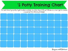 FREE Printable Potty Training Charts! Girl and Boy versions! - Craft ~ Your ~ Home