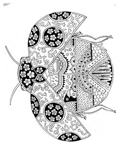 ladybug spring mandala coloring pages Doodle Coloring, Mandala Coloring Pages, Animal Coloring Pages, Coloring Book Pages, Printable Coloring Pages, Paisley Coloring Pages, Zentangle Drawings, Doodles Zentangles, Zentangle Patterns