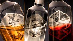 CORBY SPIRIT & WINE | Lamb's Rum. Rebrand by Davis. Luxury Packaging, Brand Packaging, Label Design, Package Design, Branding Design, Pernod Ricard, Rum Bottle, Hexagon Shape, Bottle Design