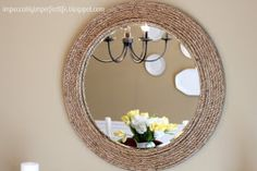 Our Impeccably Imperfect Life: DIY Rope Mirror {Ballard Knock-off}