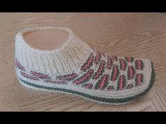 Тапочки-следки на двух спицах № 57. - YouTube Tunisian Crochet, Filet Crochet, Fair Isle Knitting, Knitting Socks, Indoor Games For Kids, Knitted Flowers, Knitted Slippers, Crochet Projects, Baby Shoes