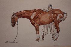 Polo Pony and Groom 1931 Paul Brown