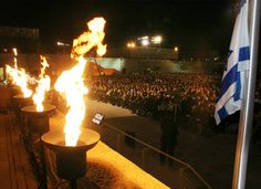 Torchlighters   Each year, six Holocaust survivors are chosen to light torches in memory of the six million Jews who were murdered during the Holocaust.