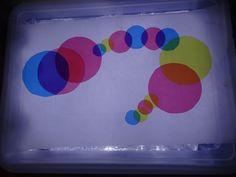 table lumineuse ronds de couleur - light table