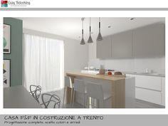 arredamento open space cucina e soggiorno