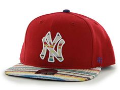 New York Yankees 47 Brand Red Warchild Wool Adjustable Snapback Hat Cap