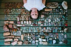 terry & her rock collection | emily blincoe soooo in love with Emily's eye lately. Her #colorsorganizedneatly series is so fun, and her portraits in this style are even MORE SO