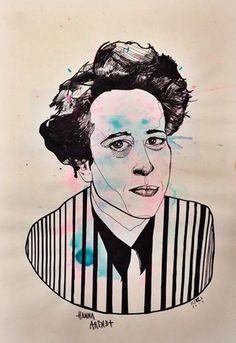 """""""Nobleza, dignidad, constancia y cierto risueño coraje. Todo lo que constituye la grandeza sigue siendo esencialmente lo mismo a través de los siglos."""" Feliz cumpleaños, Hanna Arendt. #Aleka"""