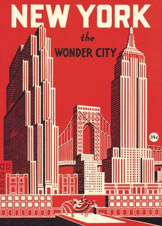 Cavallini New york wonder city, poster 50x70 - Tictail - Browse stores, products and collections