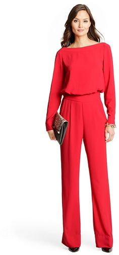 Cynthia Long Sleeve Jumpsuit in Poppy - I hate jump suits. They're so dang inconvenient, not to mention that they look like they belong on someone who's about to change a tire. but, I'd love this as a two piece outfit. Jumpsuit Elegante, Wedding Dress, Jumpsuit Outfit, Look Chic, Office Outfits, Jumpsuits For Women, Diane Von Furstenberg, Trendy Outfits, Style Inspiration