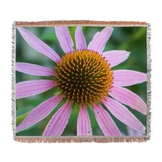 Pink Coneflower Woven Blanket on CafePress.com